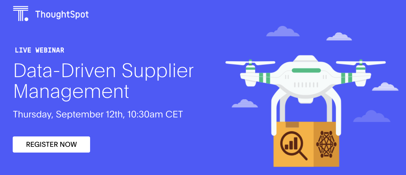 Live webinar by Thoughtspot with CEO Andreas Zimmermann from mysupply