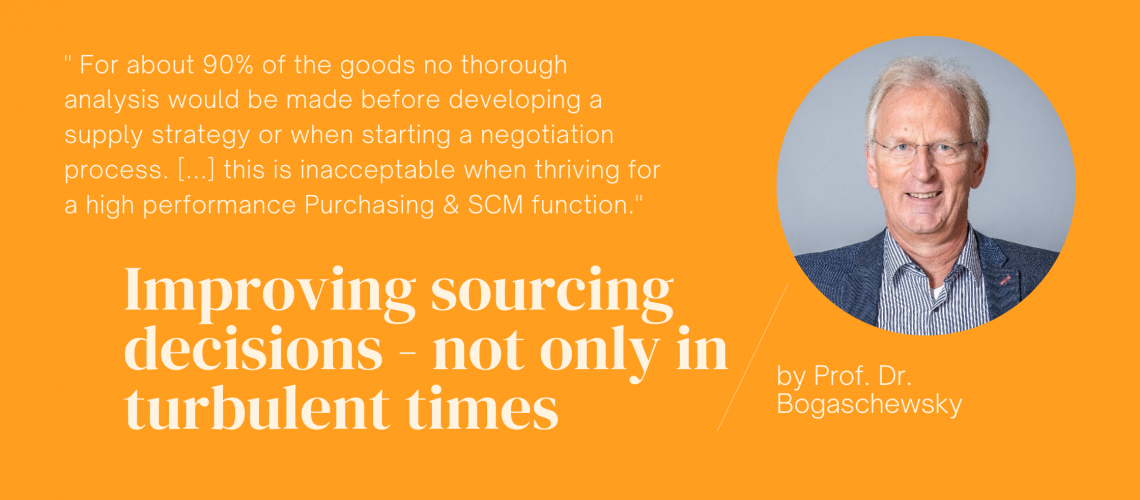 Improving sourcing decisions